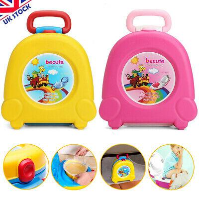Portable Baby Toilet Seat Child Kids Toddler Potty Training Car Travel Seat Pink • 1.20£