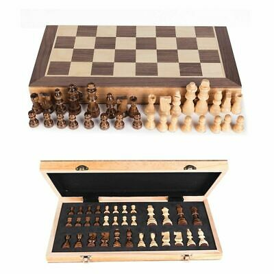 £12.99 • Buy UK Large Chess Wooden Set Folding Chessboard Magnetic Pieces Wood Board New