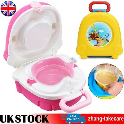 2 In 1 Portable Baby Potty Kid Children Training Toilet Trainer Stool Chair • 13.98£