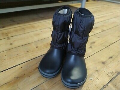 Black Waterproof Crocs Snow Boots Size 5 • 5.60£