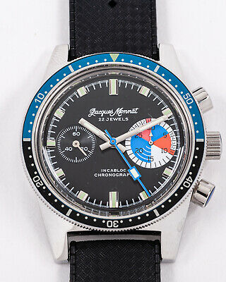 $ CDN699.43 • Buy Vintage Jacques Monnat Yachting Chronograph New Old Stock Condition!