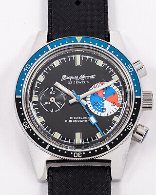 $ CDN324.77 • Buy Vintage Jacques Monnat Yachting Chronograph New Old Stock Condition!