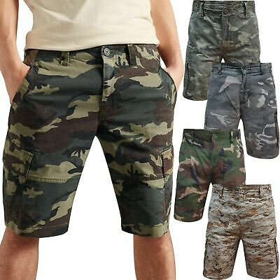 New Mens Airwalk Cargo Camo Shorts Cotton Summer Casual Work Pant Combat Chino • 11.99£