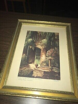 £21.29 • Buy 1940s Little Theatre New Orleans Illinois Central Railroad  Color Print Framed