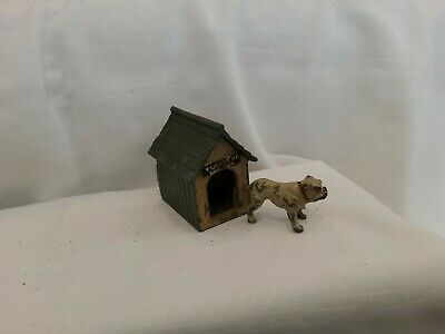 Vintage Lead Britains Johillco. Bull Dog And His Kennel • 10£