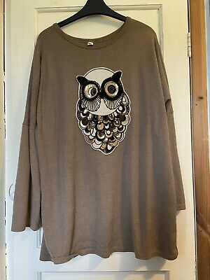 Brown Owl Design Jumper 18 Cozy • 1.50£