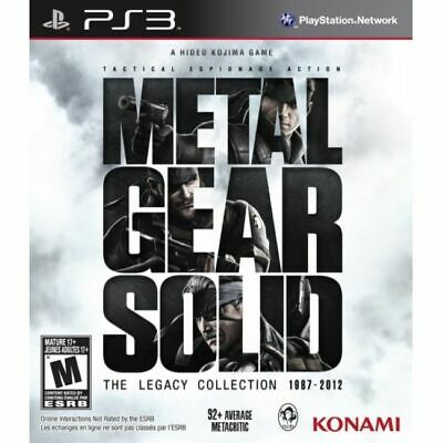 £30.40 • Buy Metal Gear Solid The Legacy Collection Solus Game PS3 (#)