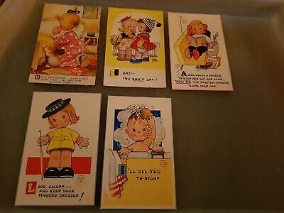 Pack 19 Valentines &sons Ltd. X 5 X Mabel Lucy Atwell Postcards. Unused • 2.50£