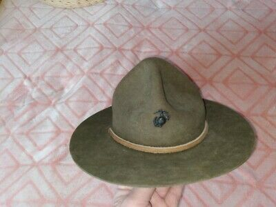 $40 • Buy Wwi Ww2 Usmc Drill Sargeant Hat Used Condition Antique Marines