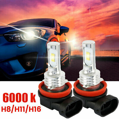 AU17.89 • Buy 2X Headlight Bright 7000LM LED H16 H11 H9 H8 Bulb Kit White 6000K Low Beam Light