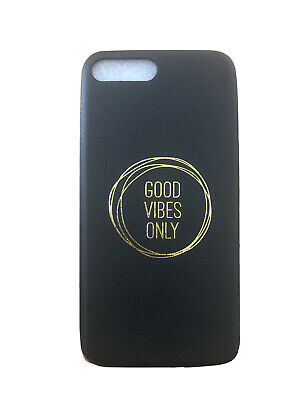 Iphone 8 Case Faux Leather 'Good Vibes Only' • 2.50£