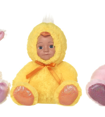 New Easter Doll In Chick Outfit Soft Plush Toy • 7.99£