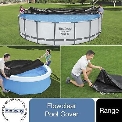 £20.99 • Buy Bestway Range Of PVC Round Pool Covers For Fast Set, Steel Pro Or Steel Pro Max