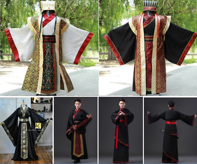 Chinese Han/Tang Clothing Emperor Prince Show Cosplay Suit Robe Costume For Mens • 19.99£