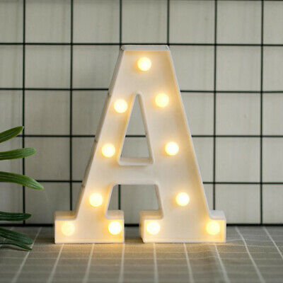 £7.82 • Buy Alphabet LED Letter Lights Light Up White Plastic Letters Numbers Standing A-Z &