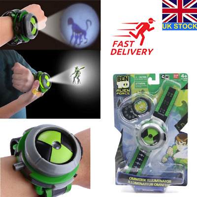 Omnitrix Watch BEN 10 Ten Projector Alien Force Illumintator Bracelet Kid's Toys • 10.85£