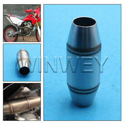 £18.78 • Buy Motorcycle Stainless Exhaust Pipe Muffler Expansion Chamber Dirt Pit Bike Silver