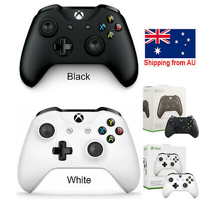 AU86 • Buy Official Microsoft Xbox One S 3.5mm Wireless Controller-Black -AU