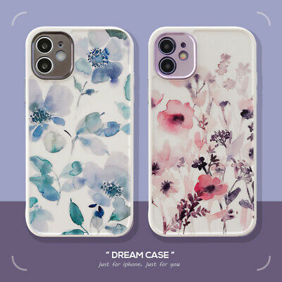 For IPhone 7 8 Plus XR XS 11 12 Pro Max Phone Cover Case Soft Shockproof Flowers • 3.89£