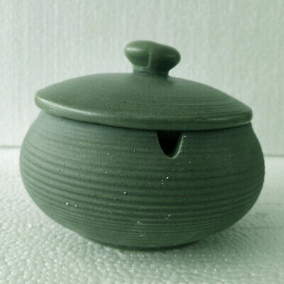 Ceramic Ashtray With Windproof Lid For Indoor Outdoor Use Light Green • 11.01£