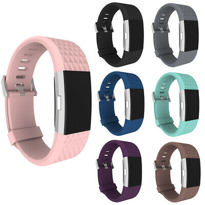 AU3.09 • Buy 3D Replacement Strap Wrist Band Sports Bracelet Watchband For Fitbit Charge 2 #w