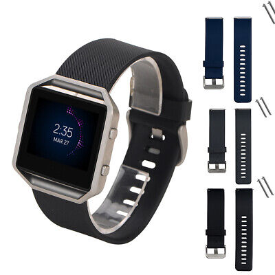 AU3.38 • Buy For Fitbit Blaze Replacement Band Strap Silicone Sports Wrist Watch Band #W