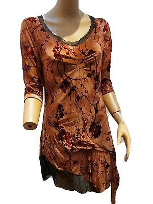 Stella Morgan Size 8 Flower Print 3/4 Sleeve A Line Dress. Soft And Floaty Brown • 4.30£