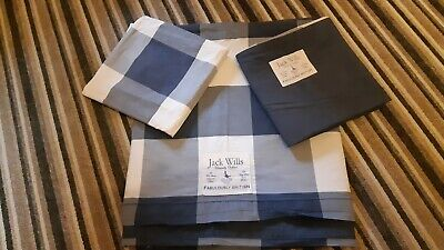 Jack Wills Cotton Check Single Quilt Cover • 8.50£