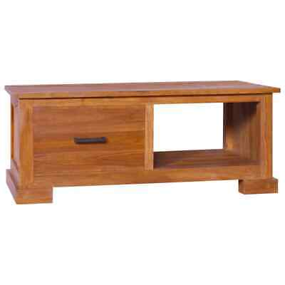 VidaXL Solid Teak Wood TV Cabinet Wooden Stereo Media Unit TV Display Stand • 154.99£