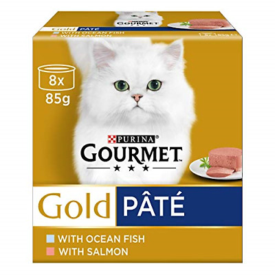 Gourmet Gold Senior Pate With Fish Cat Food, 8 X 85 G • 9.70£