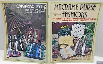$5.95 • Buy Vintage MACRAME PURSE FASHIONS Pattern Book 22 Different Retro Purses Knot Tying