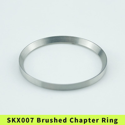 $ CDN18.76 • Buy SKX007/SRPD Chapter Ring Brushed Finish Stainless Steel Unmarked Silver