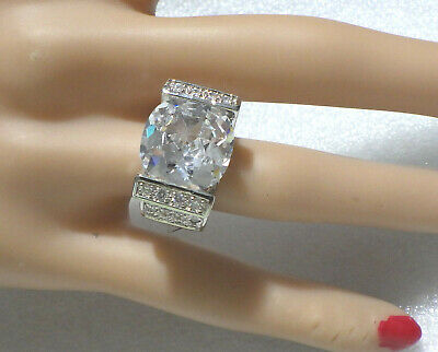 $45 • Buy  Charles Winston, Elegant Sterling Ring  Cz  Clear Stones Size 5