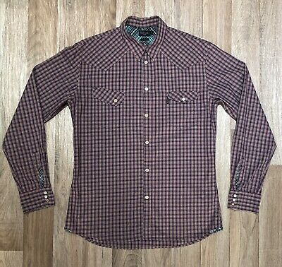 Paul Smith Shirt M Purple Check Tailored Fit Excellent Condition • 15.99£