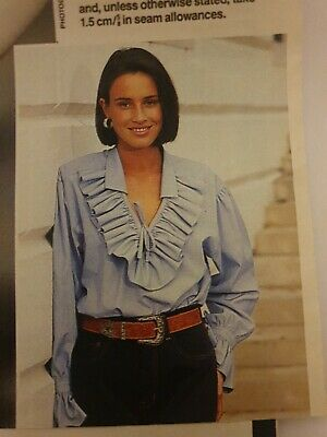 Prima Sewing Pattern Ladies Ruffle Shirt 10 12 14 16 18 90s  New UNCUT Blouse  • 6.49£