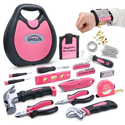 Apollo 72 Piece Home DIY Ladies Pink Tool Kit Set In A Handbag Case. All Purpose • 35.89£