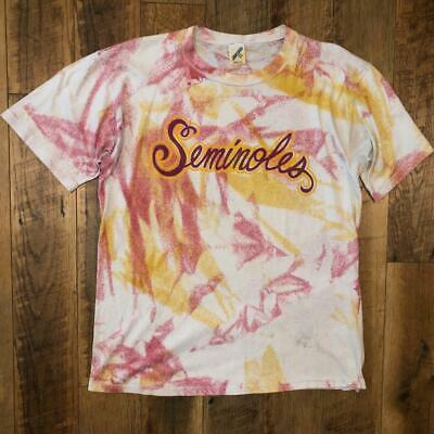 $ CDN37.87 • Buy VTG 90s Jerzees Florida State Seminoles All Over Print SINGLE STITCH T Shirt XL