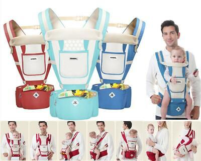Baby Carrier With Hip Seat Backpack Breathable Baby All Season Sling Multi UK • 21.71£