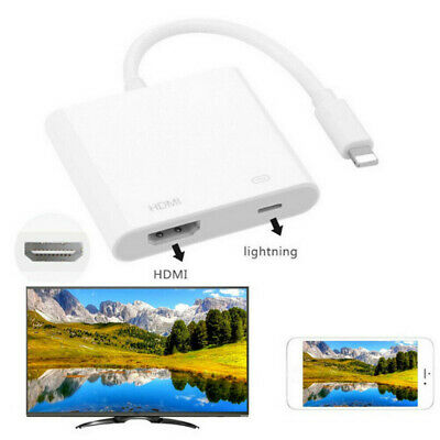 4K For IPhone To HDMI HD TV Converter Adapter Apple IOS IPad For 1080P Projector • 8.92£