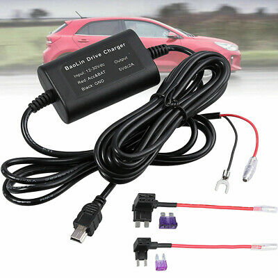 AU10.75 • Buy Universal 3.2m Hardwire Kit 5V Mini USB For Car Dash Cam Fuse Camera DVR 12-24V