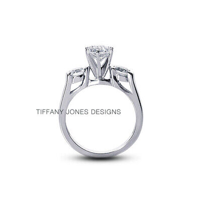 AU4126.13 • Buy 1 1/4ct I SI1 Round Natural Certified Diamonds 950 PL. Classic Three-Stone Ring