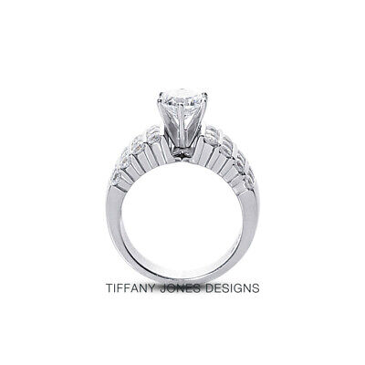 AU4214.86 • Buy 1 1/2 CT G SI1 Round Cut Earth Mined Certified Diamonds 950 PL. Sidestone Ring