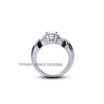 AU3504.99 • Buy 0.93ct F-SI1 Round Natural Diamonds 950 PL. Vintage Style Engagement Ring