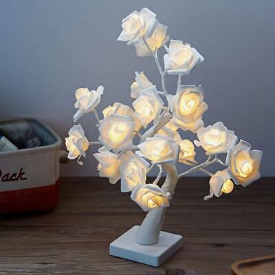Rose Bonsai Tree Table Lamp 24 LED Gift For Home Décor Lover Valentine's Day • 13.99£