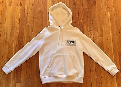 $275 • Buy Authentic Burberry Hoodie White Small