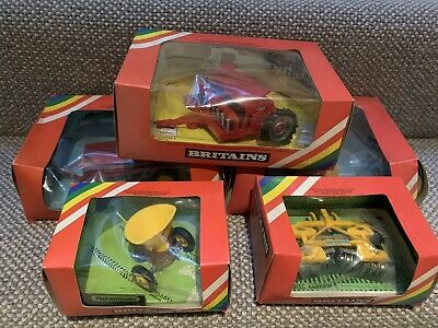 Lot 50 Britains 5 Boxed Farm Machinery Items In Rainbow Boxes  • 50£