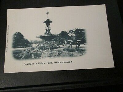 £3.99 • Buy Postcard Of Fountain In Public Park, Middlesborough (Unposted Undivided Back)