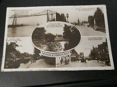 £2.99 • Buy Postcard Of Middlesborough (1930 Posted RP) Multiview