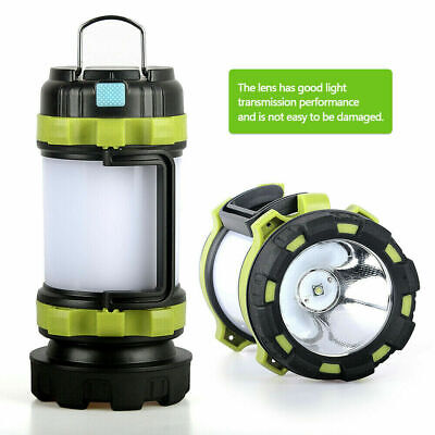 AU29.18 • Buy LED Hand Lamp Torch Rechargeable Power Bank Lantern Outdoor Tent Light Campings