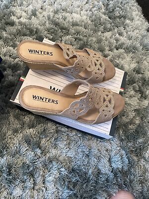 Ladies Winters Italian Comfort Sandals Size 7 New Smart Holiday • 13£